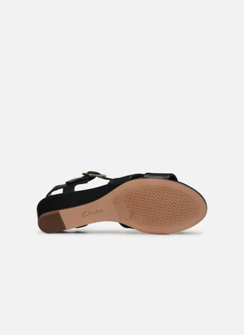 Sandals Clarks Sense Strap Black view from above