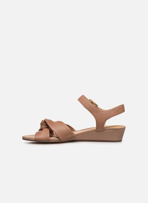 Sandales et nu-pieds Clarks Sense Strap Rose vue face