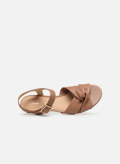 Sandales et nu-pieds Clarks Sense Strap Rose vue gauche
