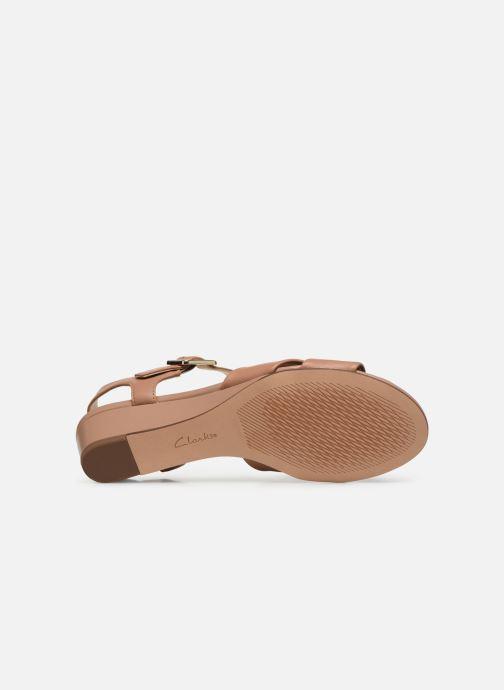 Sandales et nu-pieds Clarks Sense Strap Rose vue haut