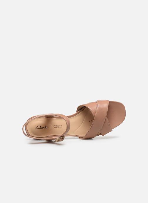 Sandali e scarpe aperte Clarks Sheer35 Strap Rosa immagine sinistra