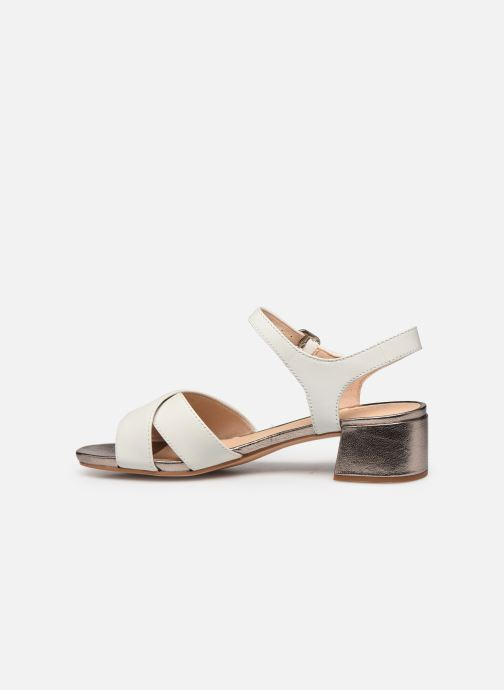 Sandales et nu-pieds Clarks Sheer35 Strap Blanc vue face