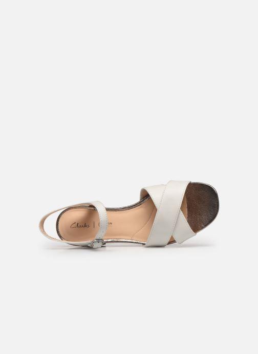 Sandales et nu-pieds Clarks Sheer35 Strap Blanc vue gauche