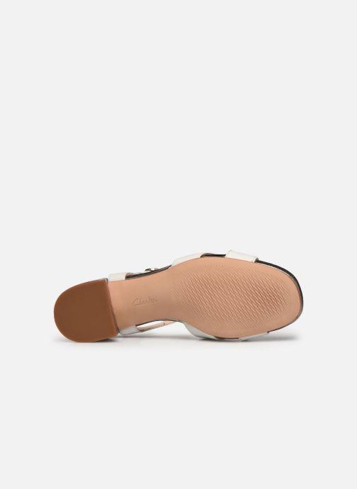 Sandales et nu-pieds Clarks Sheer35 Strap Blanc vue haut