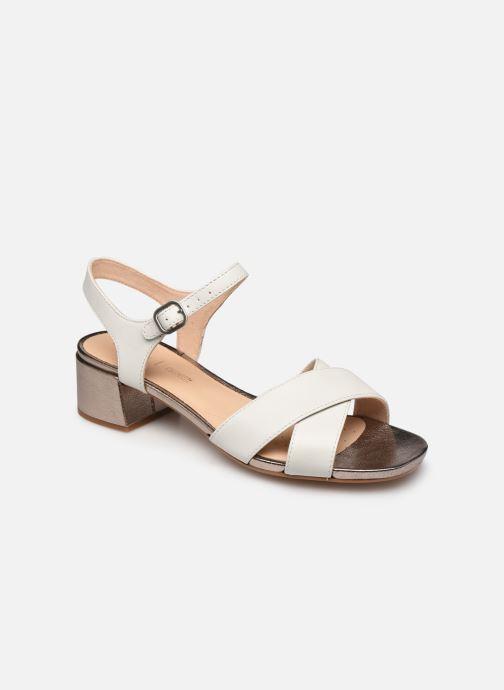 Sandales et nu-pieds Clarks Sheer35 Strap Blanc vue détail/paire