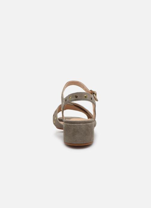 Sandales et nu-pieds Clarks Sheer35 Strap Vert vue droite