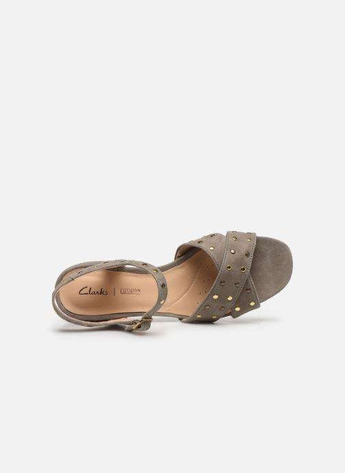 Sandales et nu-pieds Clarks Sheer35 Strap Vert vue gauche