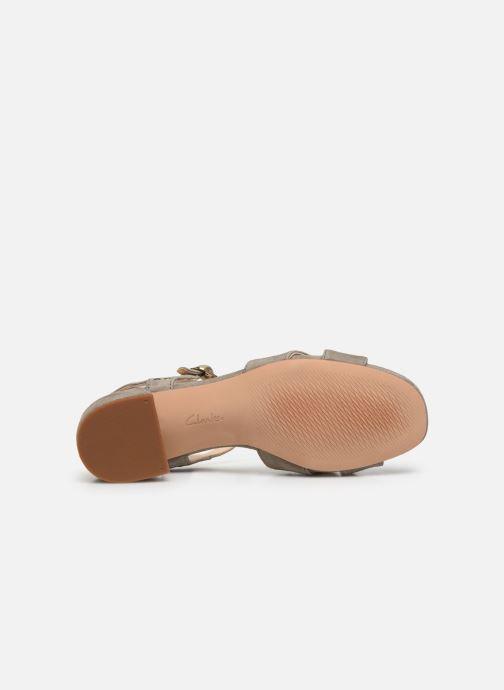 Sandales et nu-pieds Clarks Sheer35 Strap Vert vue haut