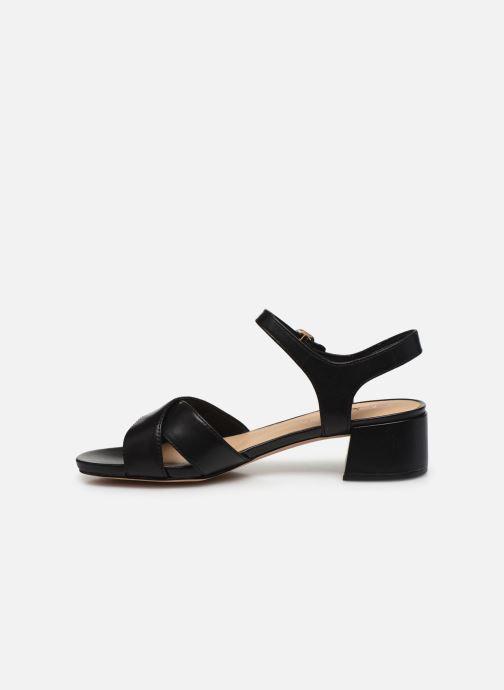 Sandales et nu-pieds Clarks Sheer35 Strap Noir vue face