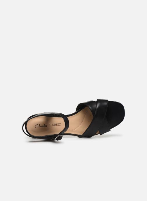 Sandales et nu-pieds Clarks Sheer35 Strap Noir vue gauche