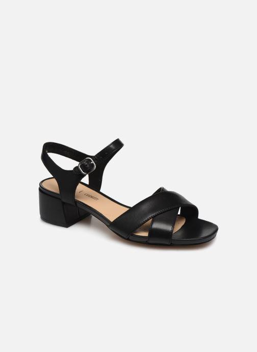 Sandales et nu-pieds Clarks Sheer35 Strap Noir vue détail/paire