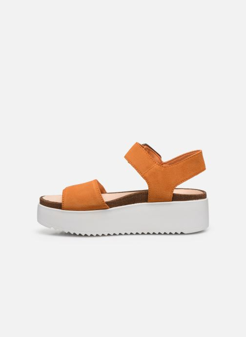 Sandales et nu-pieds Clarks Botanic Strap Orange vue face