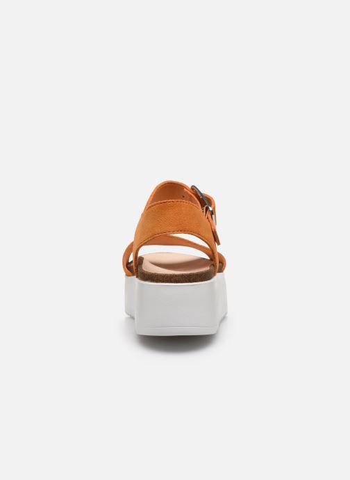 Sandales et nu-pieds Clarks Botanic Strap Orange vue droite