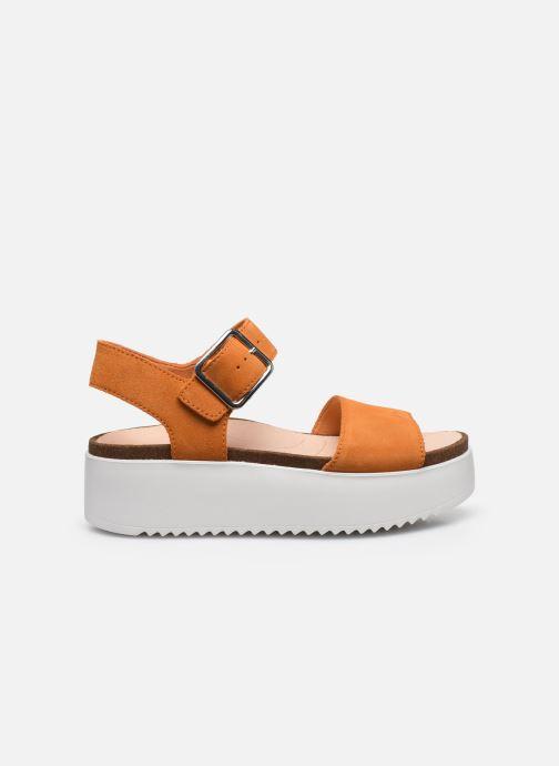 Sandales et nu-pieds Clarks Botanic Strap Orange vue derrière