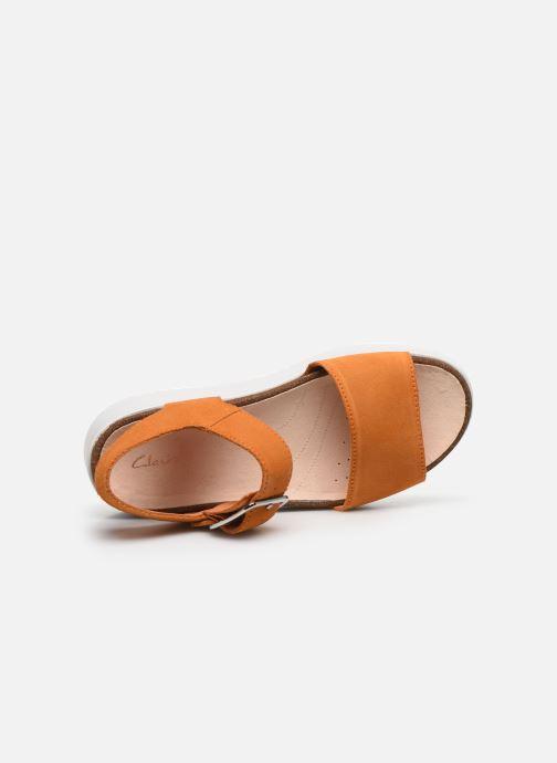Sandales et nu-pieds Clarks Botanic Strap Orange vue gauche