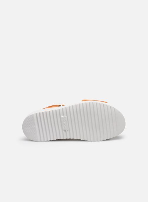 Sandales et nu-pieds Clarks Botanic Strap Orange vue haut