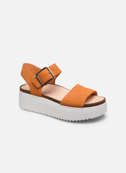 Sandales et nu-pieds Clarks Botanic Strap Orange vue détail/paire