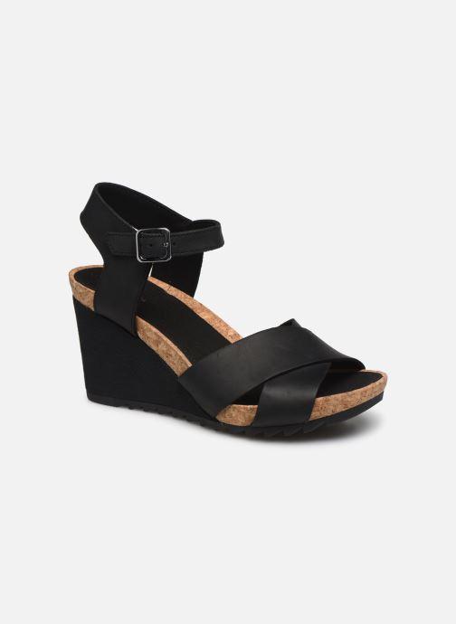 Sandales et nu-pieds Clarks Flex Sun Noir vue détail/paire