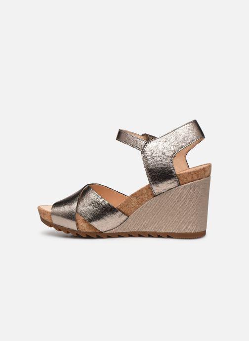 Sandales et nu-pieds Clarks Flex Sun Argent vue face