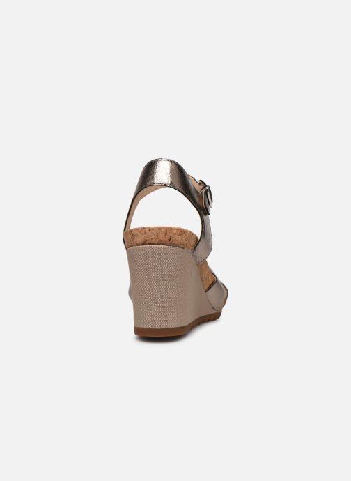 Sandales et nu-pieds Clarks Flex Sun Argent vue droite