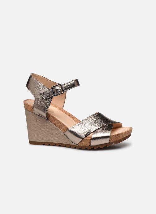 Sandales et nu-pieds Clarks Flex Sun Argent vue derrière
