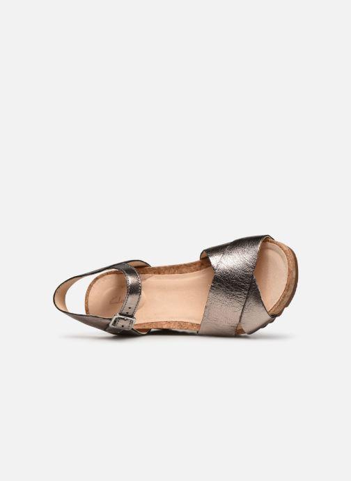 Sandales et nu-pieds Clarks Flex Sun Argent vue gauche