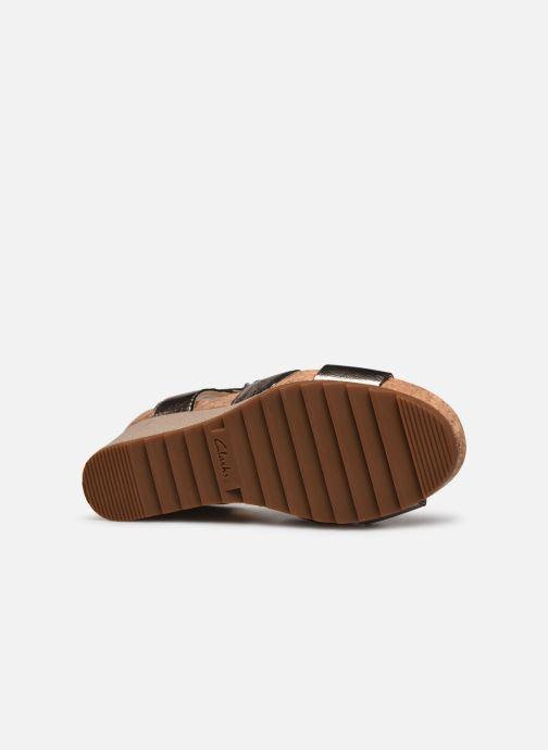 Sandales et nu-pieds Clarks Flex Sun Argent vue haut