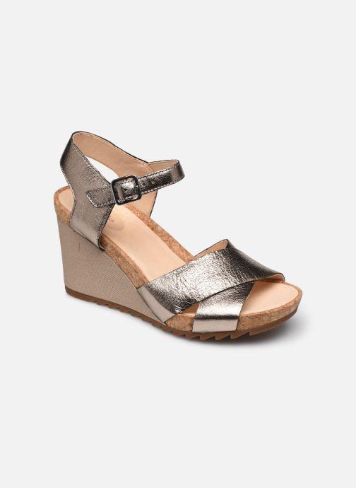 Sandales et nu-pieds Clarks Flex Sun Argent vue détail/paire