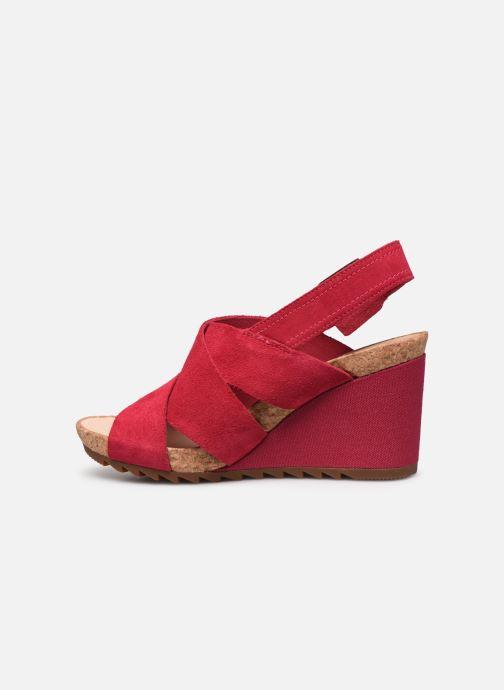 Sandales et nu-pieds Clarks Flex Sand Rose vue face
