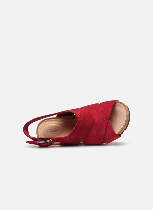 Sandales et nu-pieds Clarks Flex Sand Rose vue gauche