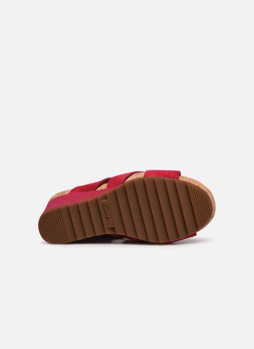 Sandales et nu-pieds Clarks Flex Sand Rose vue haut
