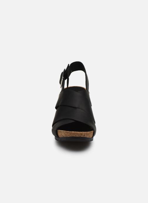 Sandales et nu-pieds Clarks Flex Sand Noir vue portées chaussures