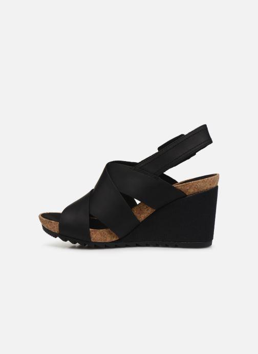 Sandales et nu-pieds Clarks Flex Sand Noir vue face