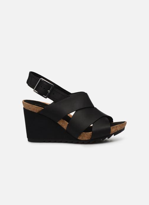 Sandales et nu-pieds Clarks Flex Sand Noir vue derrière
