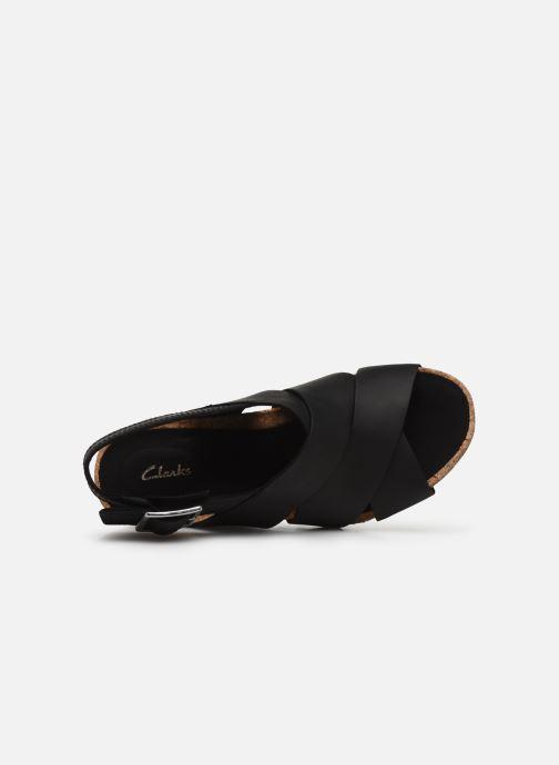 Sandales et nu-pieds Clarks Flex Sand Noir vue gauche