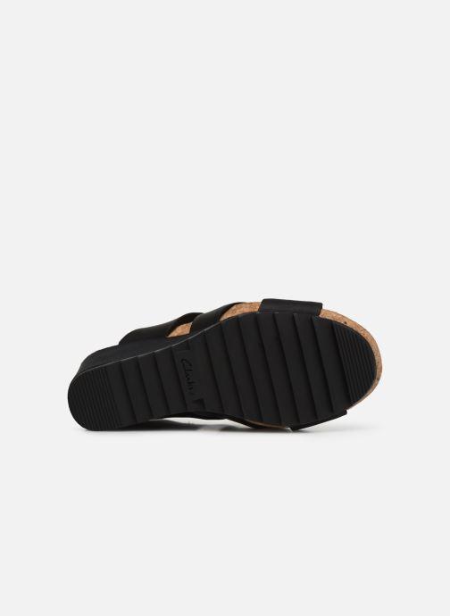 Sandales et nu-pieds Clarks Flex Sand Noir vue haut