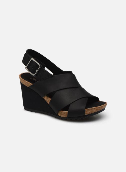 Sandales et nu-pieds Clarks Flex Sand Noir vue détail/paire