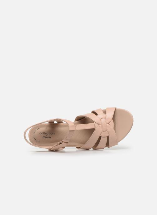 Sandales et nu-pieds Clarks Abigail Daisy Rose vue gauche