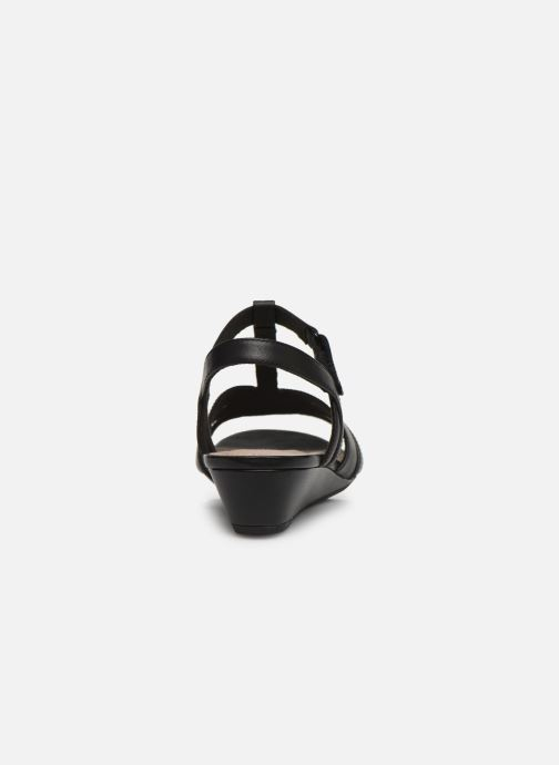 Sandales et nu-pieds Clarks Abigail Daisy Noir vue droite