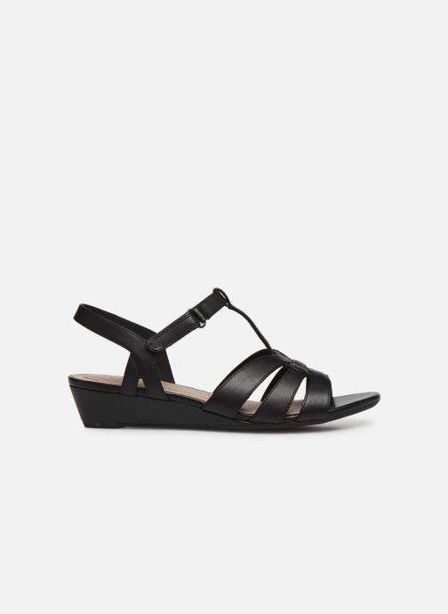 Sandales et nu-pieds Clarks Abigail Daisy Noir vue derrière