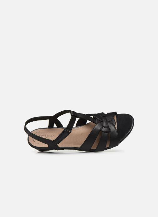 Sandales et nu-pieds Clarks Abigail Daisy Noir vue gauche