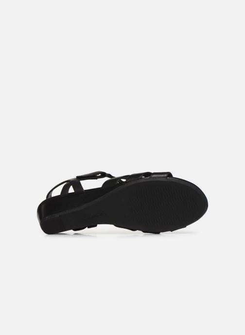 Sandales et nu-pieds Clarks Abigail Daisy Noir vue haut