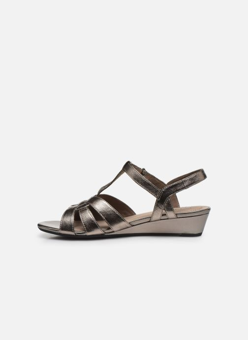 Sandales et nu-pieds Clarks Abigail Daisy Argent vue face