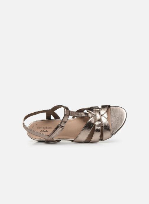 Sandales et nu-pieds Clarks Abigail Daisy Argent vue gauche
