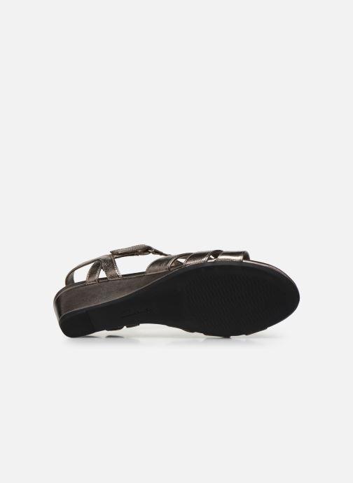 Sandales et nu-pieds Clarks Abigail Daisy Argent vue haut