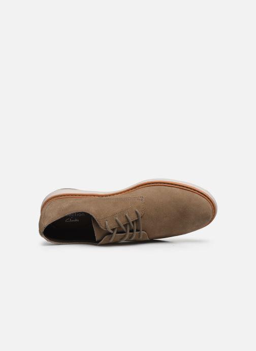 Chaussures à lacets Clarks Draper Lace Vert vue gauche