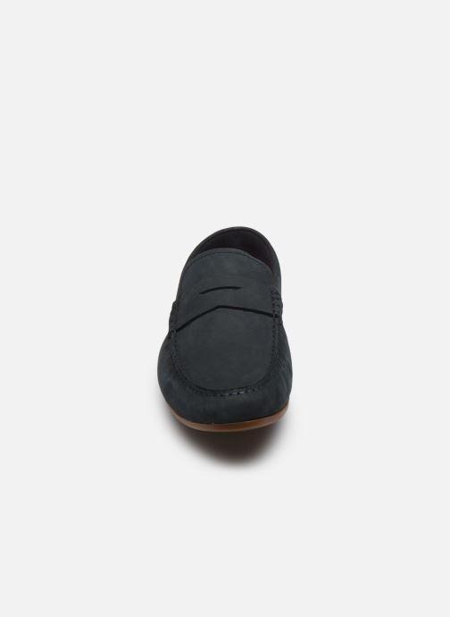 Mocassins Clarks Reazor Penny Bleu vue portées chaussures