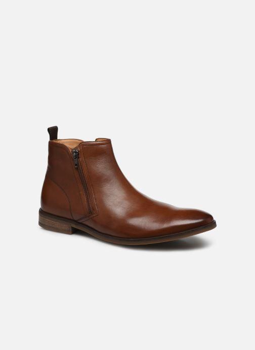 Bottines et boots Clarks Stanford Zip Marron vue détail/paire