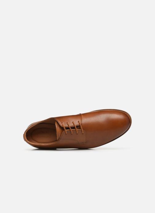 Zapatos con cordones Clarks Oliver Lace Marrón vista lateral izquierda