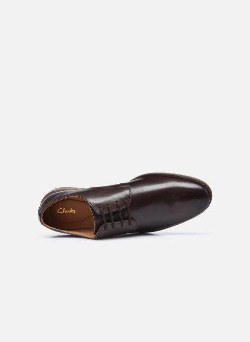 Zapatos con cordones Clarks Stanford Walk Marrón vista lateral izquierda